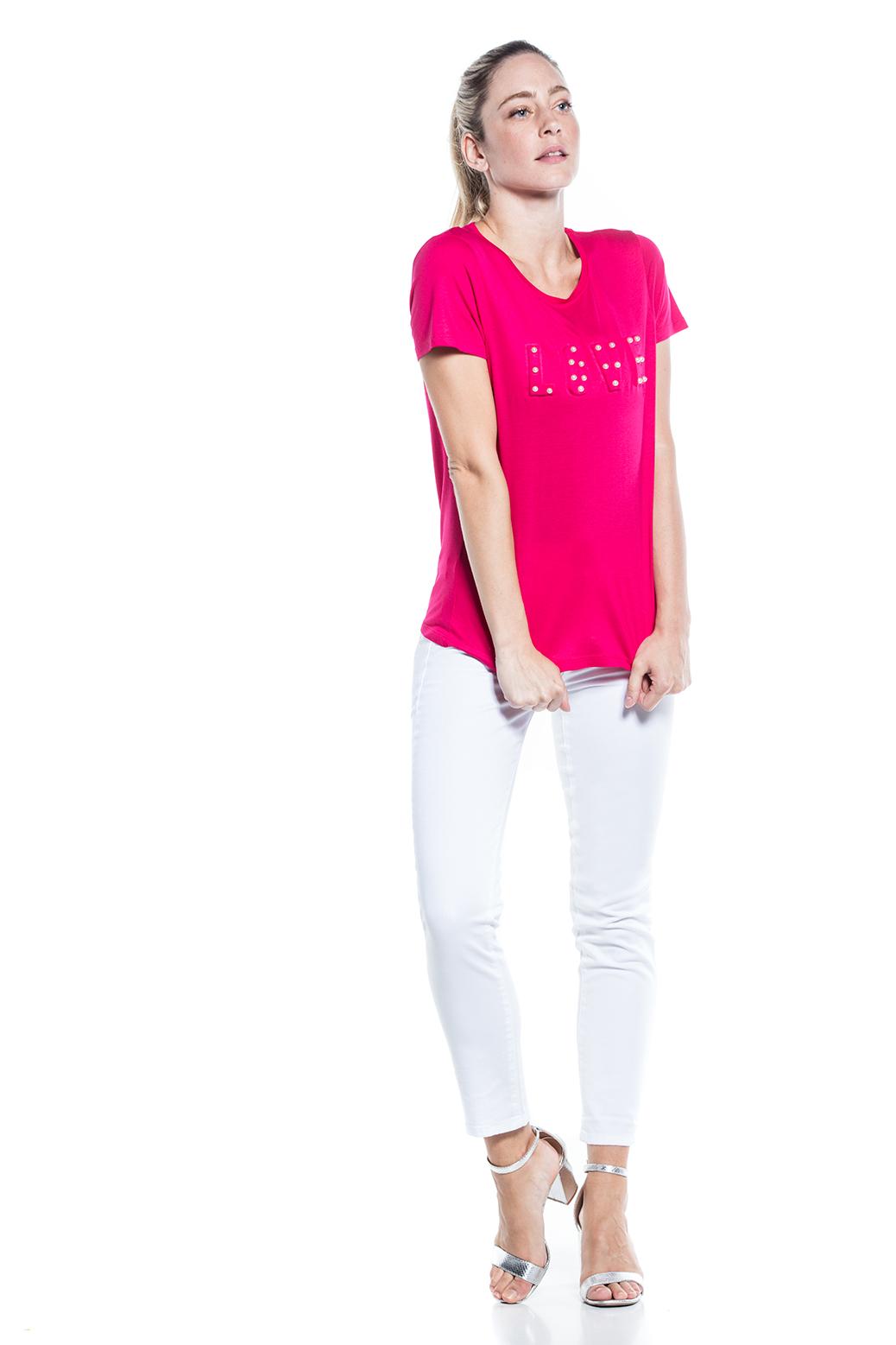 T-shirt with square cornucopia print