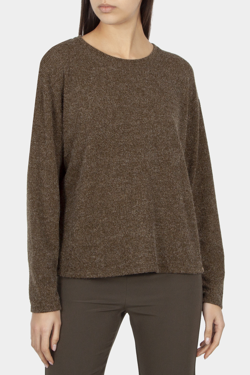 Sweater with back zipper