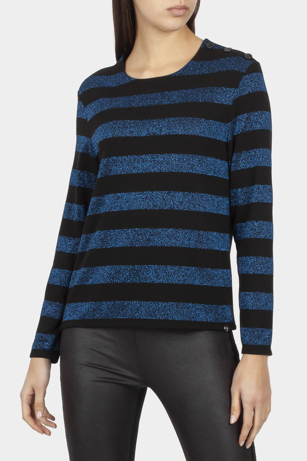 Long sleeved top with lurex