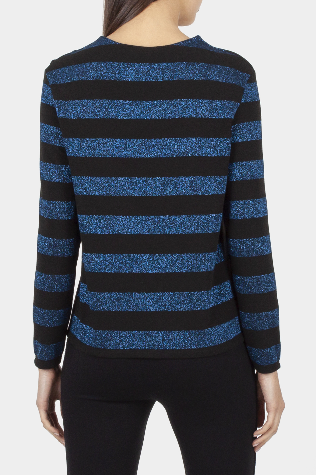 Long sleeve sweater with lurex