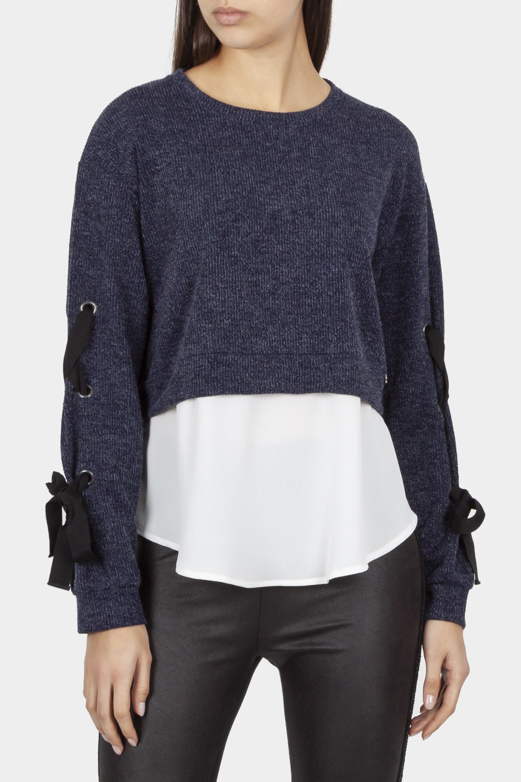Double fabric top