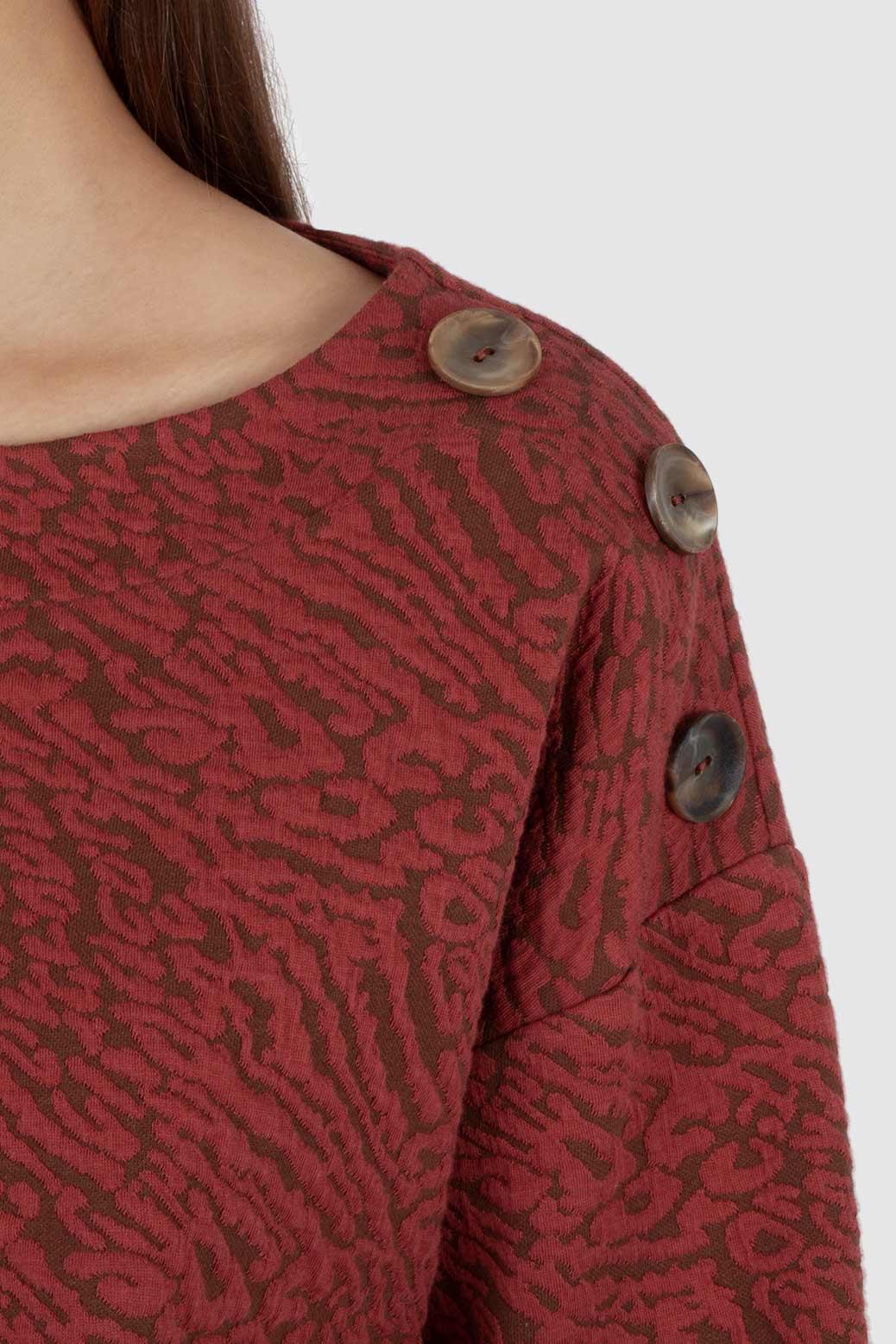 Jacquard-knit jumper