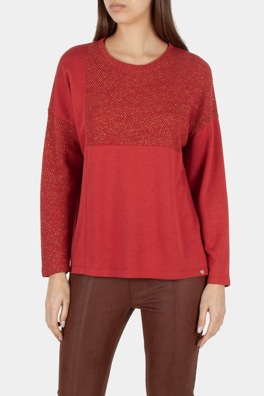 Double fabric sweater