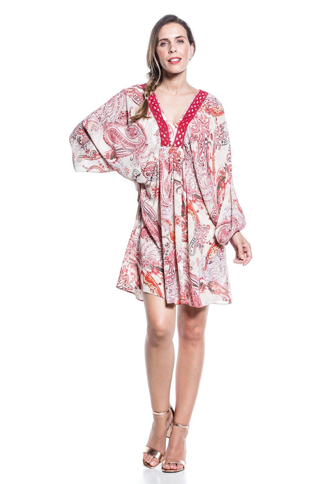 Fluid printed dress