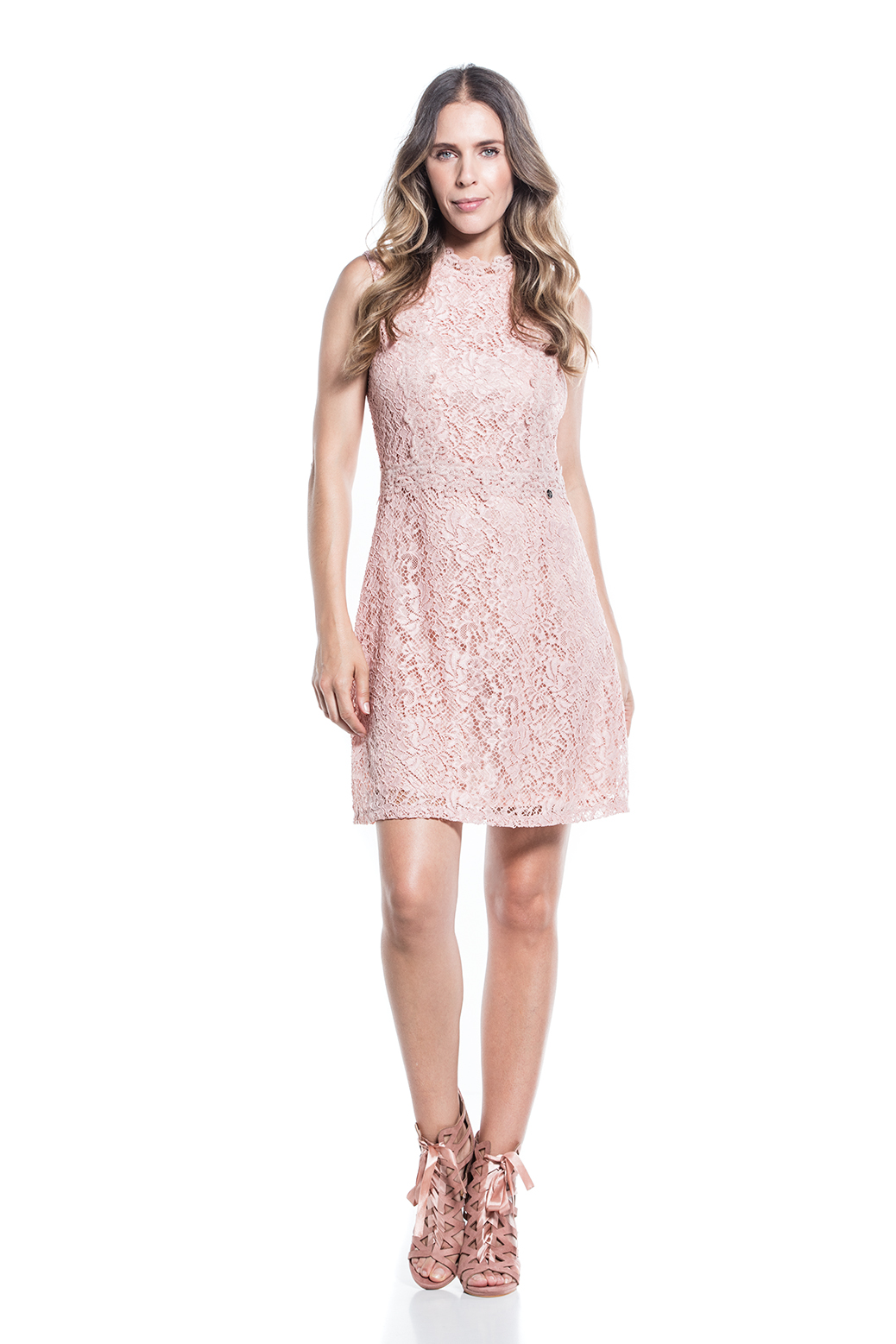Structured dress with lace details