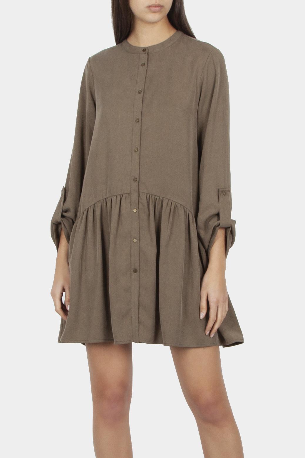 Dress in fabric