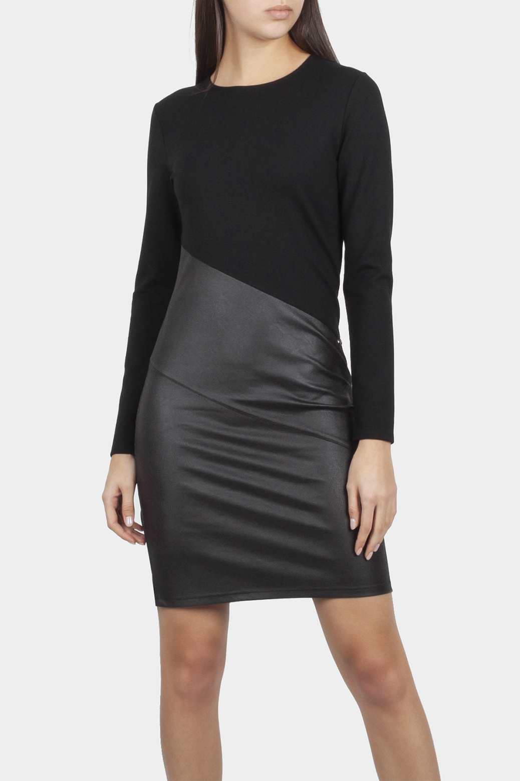 Dress in double fabric