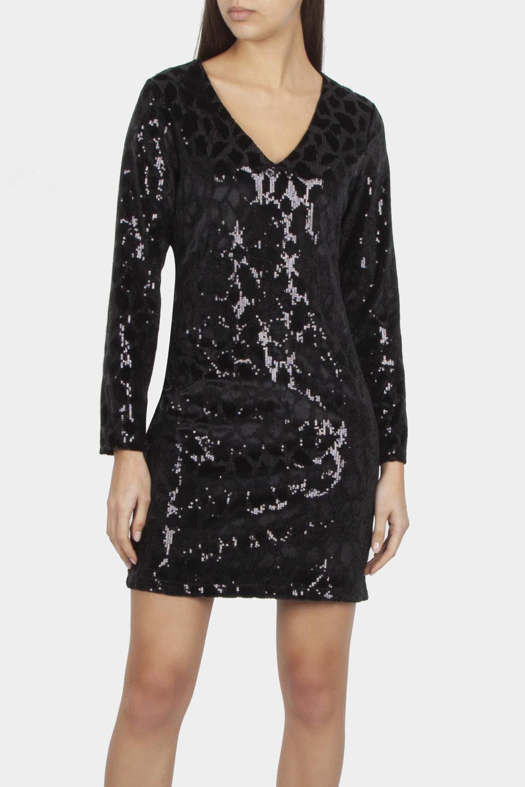 Sequined velour dress