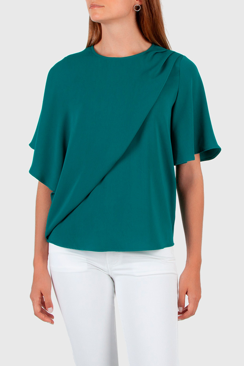 Draped blouse