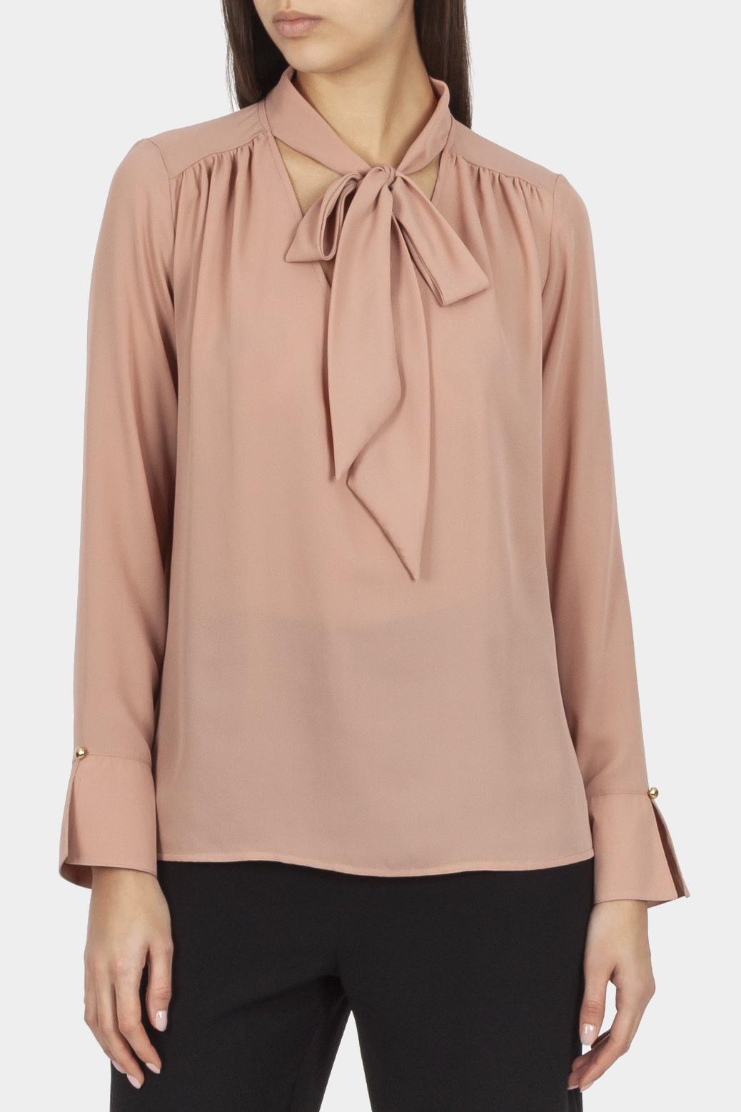 Tie-collar blouse