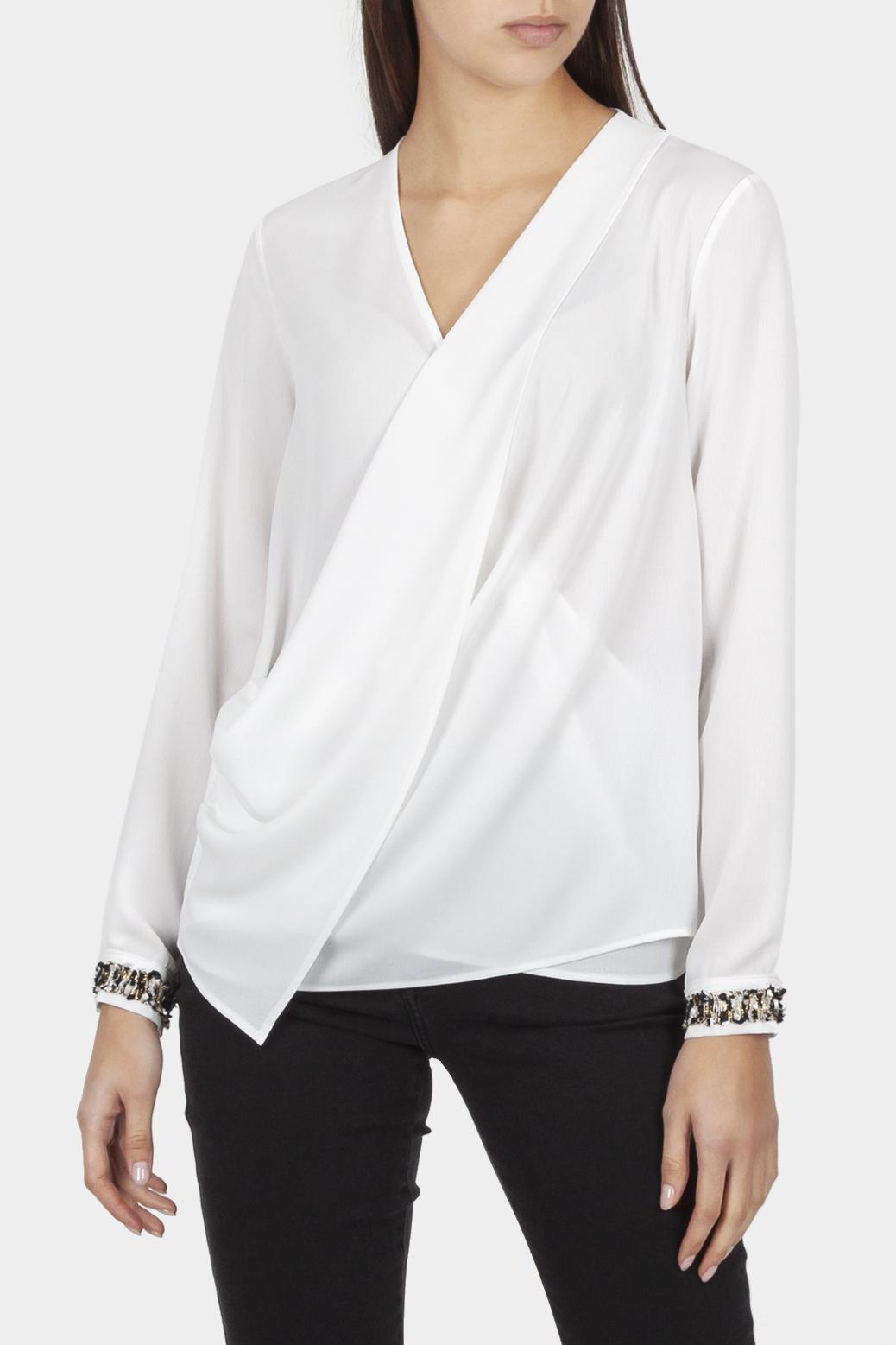 Wrapover blouse