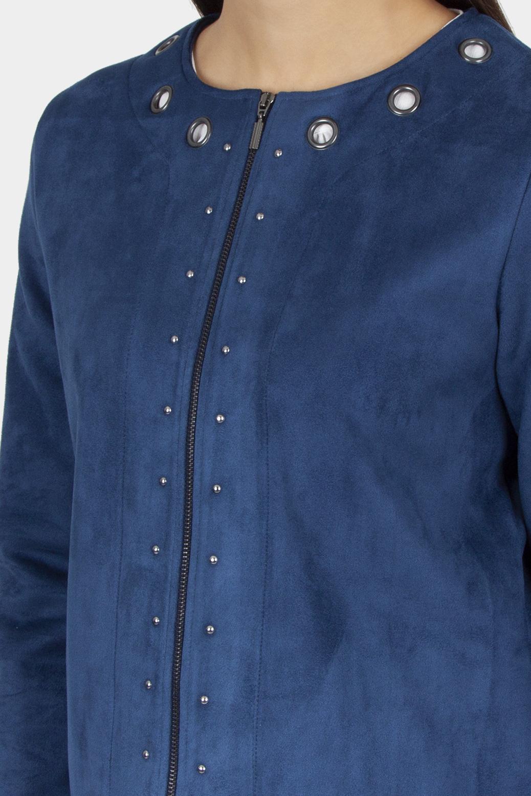 Jacket faux suede